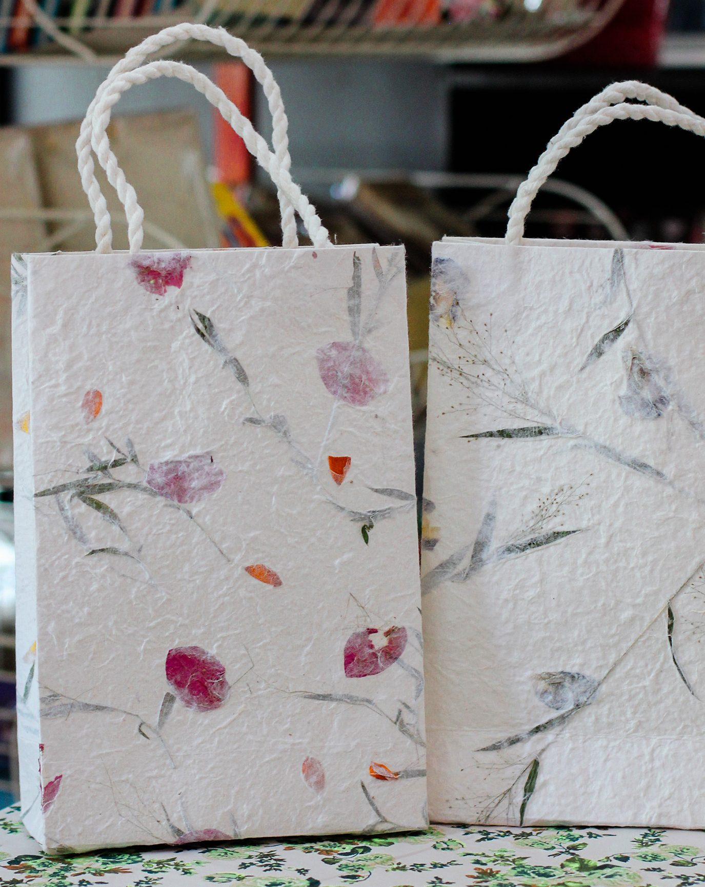 Handmade Mulberry Paper Tote Bags | Bloomsday Review