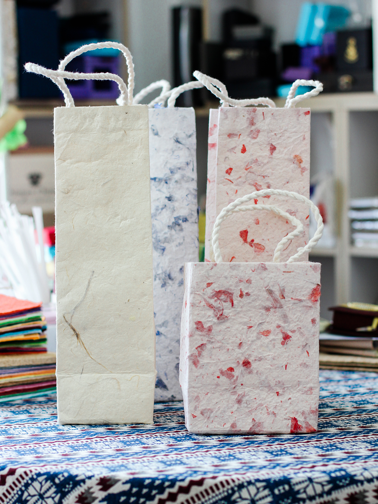 Handmade Mulberry Wine Bags, Saa Paper Tote Bags | Bloomsday Review