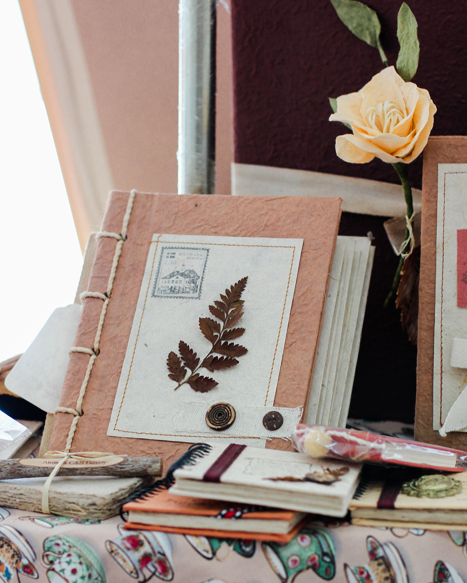Handmade Mulberry Paper Journal, Vintage Journals | Bloomsday Review