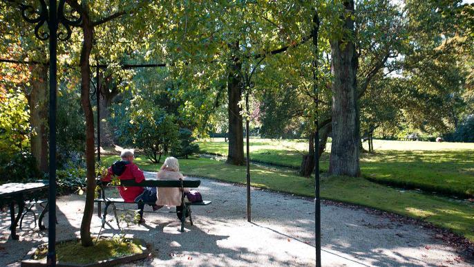 Photo of a couple visiting Arboretum Trompenburg in Rotterdam, Netherlands