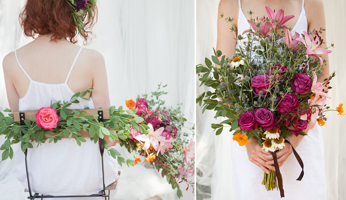 Minimal Wedding Flower Design by Portland Bloem and Stine K Nash Photography