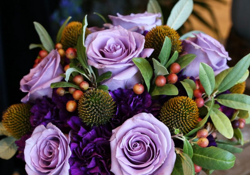 Blue Rose Arrangement